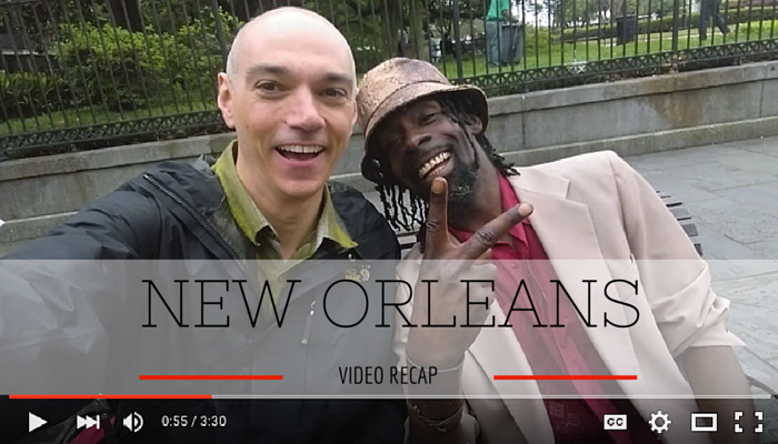 Image of Dan meeting people in New Orleans