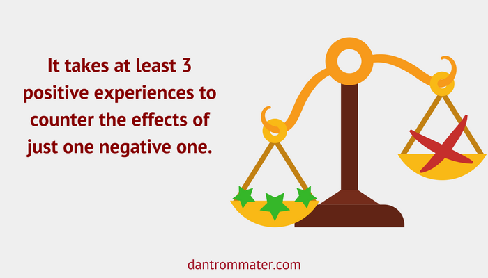 positive experiences outweigh negative ones