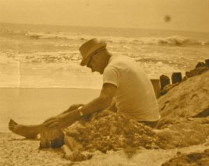 Dan's Grampa on Beach
