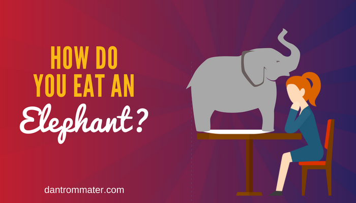 How do you eat an elephant