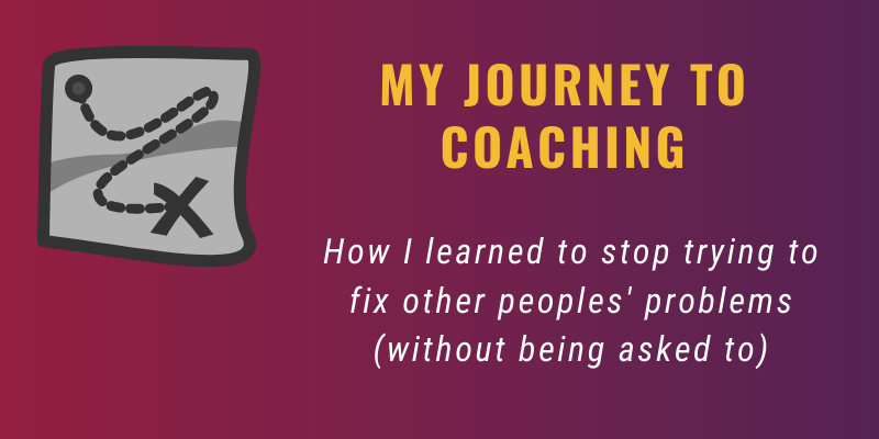 My journey to coaching banner
